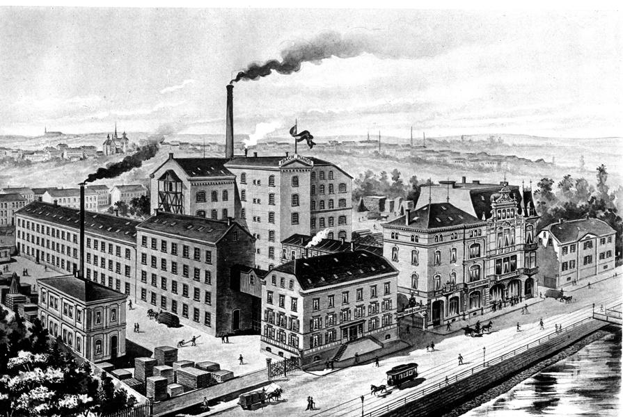 1876 – Umzug in die neue Fabrik