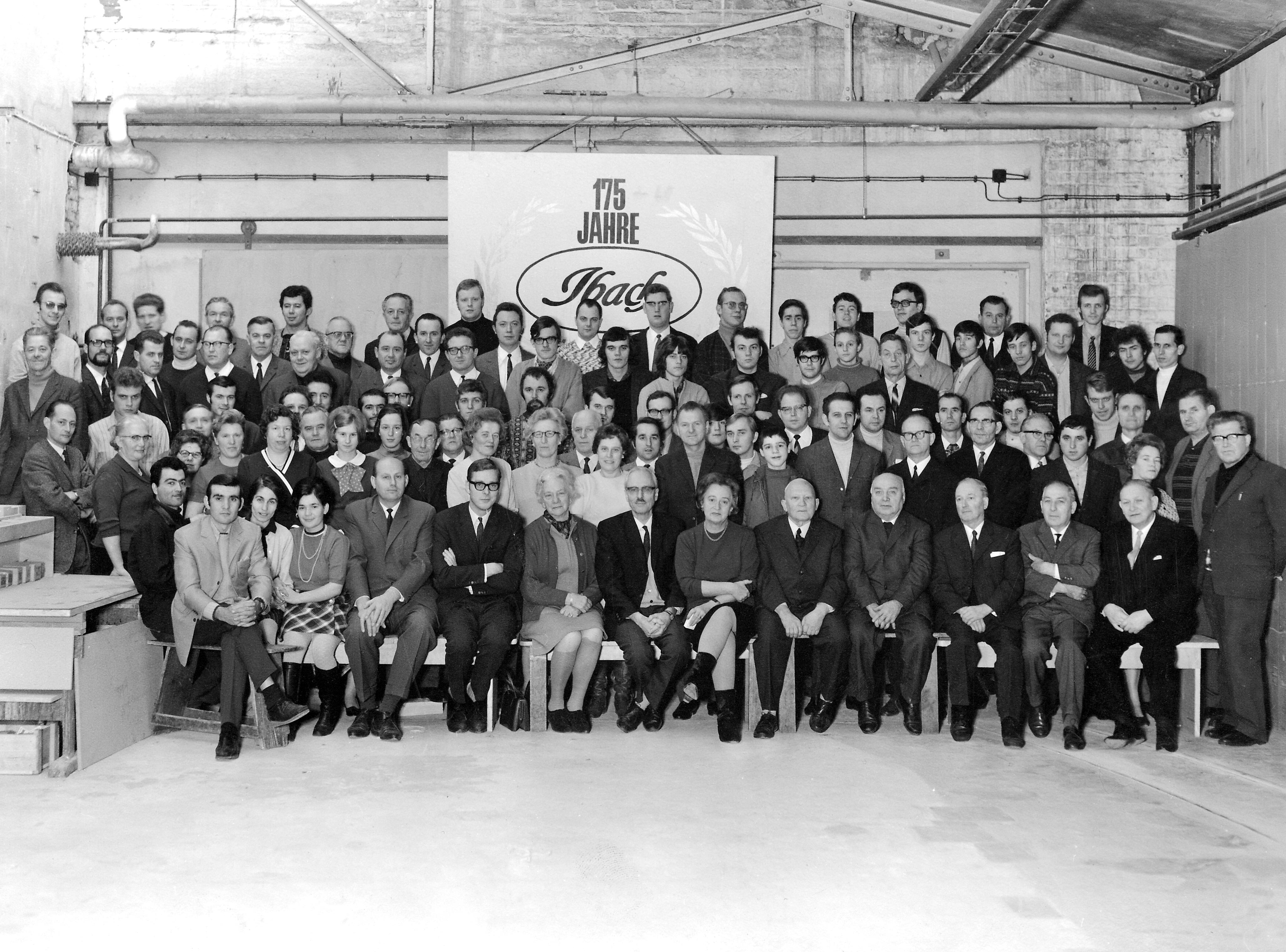 1969 –  Rolf Ibach wird Gesellschafter und feiert das 175jährige Firmenjubiläum